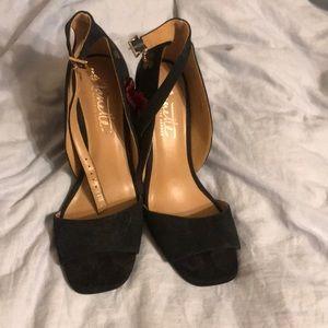Nanette Lepore black heels worn once!